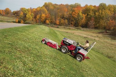 Ventrac 4500Y diesel tractor with 72 inch mowing deck - All wheel drive and exceptional control makes navigating hills safer and easier with the Ventrac 4500