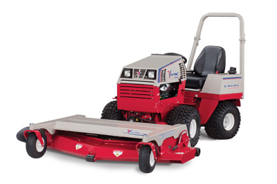 Ventrac 4500 with 72 inch Mowing Deck left view - Shown is the HM722 Deck