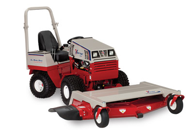 Ventrac 4500 with 72 inch Mowing Deck right view - Shown is the HM722 Deck
