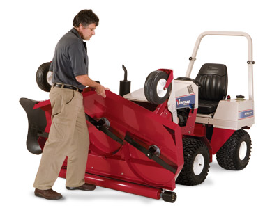 Ventrac 4000 series - Shown with HM602 Mower Deck that flips up for easy cleaning