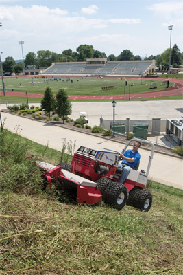 Ventrac 4500P Uphill Mowing with Tough Cut - With the Tough Cut Mower and the Ventrac all-wheel drive tractor uphill mowing is not an uphill battle.