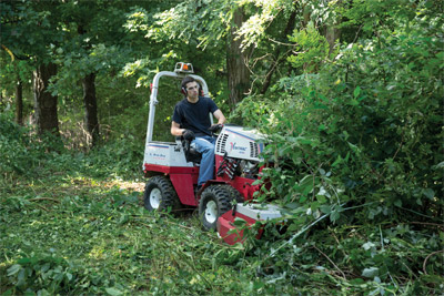 Ventrac 4500 Boldly Mows with HQ680 - Going where no tractor has gone before Ventrac can maneuver in places larger equipment cannot and can get to areas you could not before.