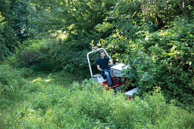 Ventrac 4500 & Tough Cut Clears the Way - The Ventrac 4500 is a literal trailblazer with the HQ680 Tough Cut mower, making a path where most conventional tractors can't.