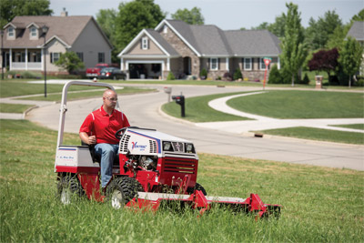 Ventrac 4500K Mowing - The Tough Cut mower can leave behind beautiful results despite its power and performance.