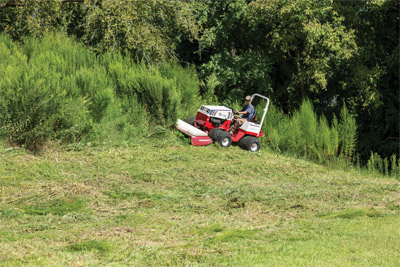 Ventrac 4500 and the Tough Cut mower deck - All wheel drive and an oscillating frame help you tackle the roughest terrain while the Tough Cut clears away overgrown vegetation.