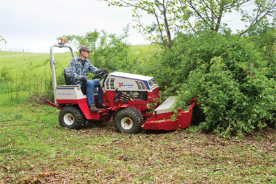 Ventrac 4500 with Tough Cut Mower - The tough cut mower tackles high grass, brush, weeds, small saplings, and thick vegetation