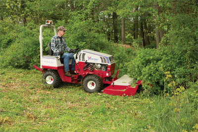 Ventrac 4500K using Tough Cut mower - Ventrac makes it possible to go where other tractors and equipment cannot.