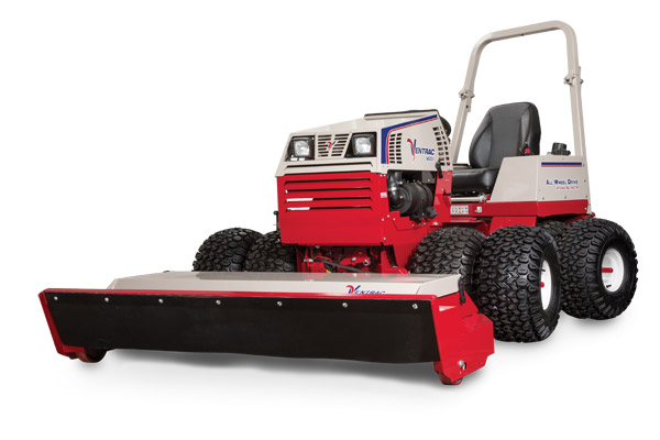 Ventrac 4500Y with Tough Cut left view - Pictured with optional dual wheels.