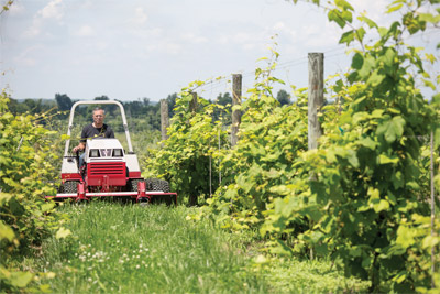 Ventrac 4500 Tends the Vines