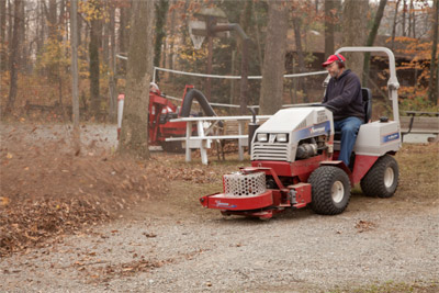Ventrac 4000 series - Using Blower