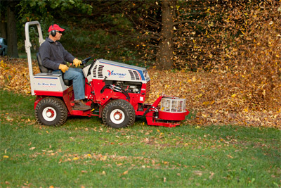Ventrac 4500Z compact tractor with Power Blower - No more raking leaves for hours on end. The power blower saves time and energy.