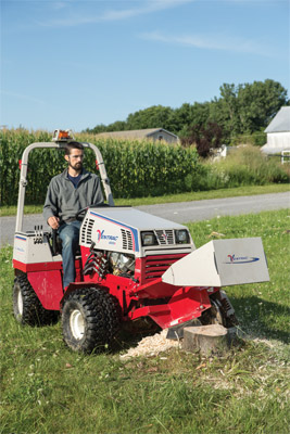 Ventrac 4500K and KC180 Stump Grinder