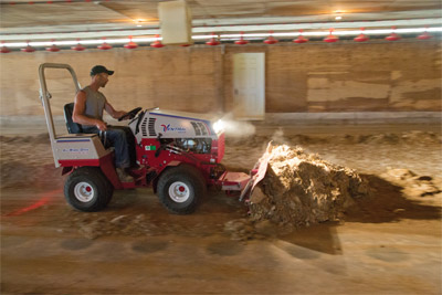 Ventrac 4500K with Dozer Blade - The 4500 has the power to push dirt, debris, rocks, etc. using the 60 inch dozer blade