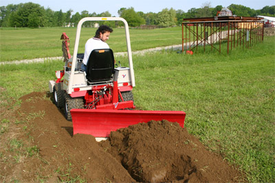 Rear Mounted - Mount to the rear of your Ventrac with the 3-n-1 adapter and 3-point hitch.