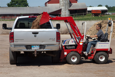 Versa-Loader on a Ventrac 4500Y - The Versa-Loader can lift up to 500 pounds