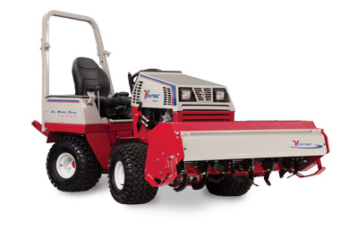 Ventrac 4500P and Tiller - Shown with the KL480 Tiller and optional Suspension Seat.