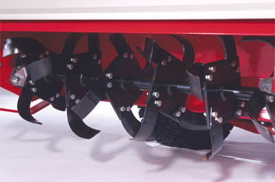 KL480 Tiller Closeup - Closeup view of the Tiller tines.