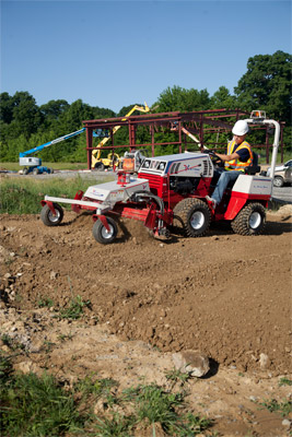 Ventrac 4500Y with Power Rake - Easily turn unusable ground into an area fit for a variety of purposes.