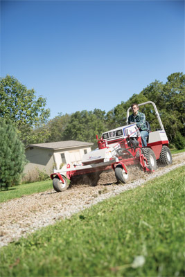 Ventrac 4500 with Power Rake driveway repair 04