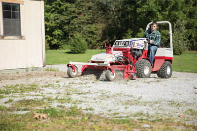 Driveway Repair with Ventrac and the Power Rake