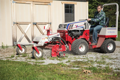 Repairing Driveways with Ventrac and the Power Rake - Bring your grown in driveways back to life with the Power Rake.