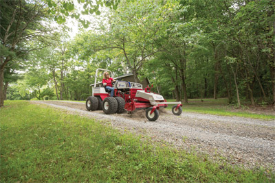 Ventrac 4500Z & the Power Rake - The Ventrac 4500 and Power Rake is like having your own compact road grader to level driveways.