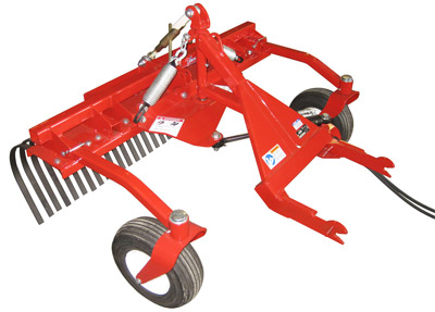 Ventrac Terra Rake Rear Facing - The Terra Rake can be reversed to be pushed from the front in either direction.