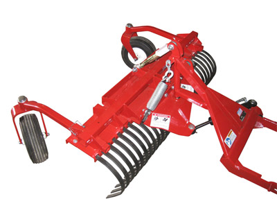 Ventrac Terra Rake Front Facing - The Terra Rake can be reversed to be pushed from the front in either direction.