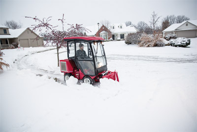 Ventrac 3400 Snow Removal Cab and Blade - Old man winter loses every time to the Ventrac 3400Y with the V-blade and fully enclosed heated cab