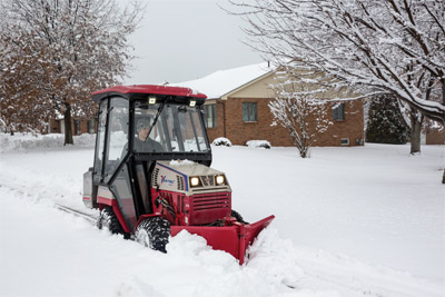 Ventrac 4500 AWD tractor Ready for Winter - The all-while drive Ventrac 4500 goes where many other tractors cannot in the harsh winter conditions.