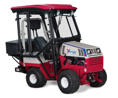 KW450 Cab on the Ventrac 4500Z - Shown also with the SS575 Spreader