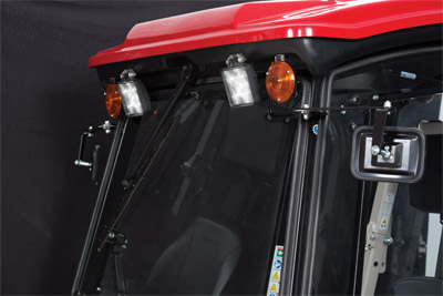 Optional Front Directional Flashers - LED work lights are standard.