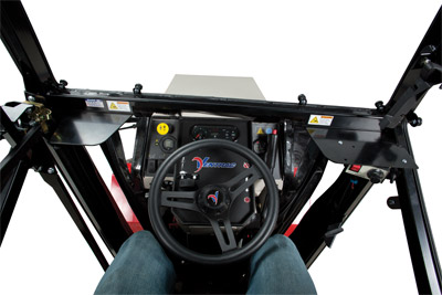 Interior Cab for the 4500 - Inside View of the KW450 Cab for the Ventrac 4500