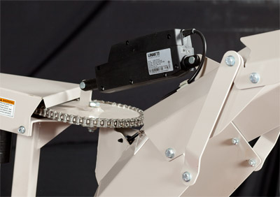 Optional 12V Actuator for KX523 Snowblower - Enables you to automatically adjust the angle of the chute
