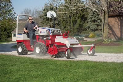 Ventrac 4500Y & the Power Rake - Seventy-two replaceable carbide tips pulverize and refine the soil.