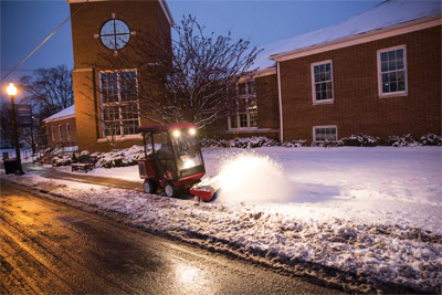 Ventrac 3400 Keeping Sidewalks Clear