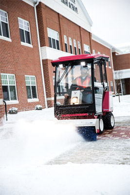 Ventrac 3400 Snow Removal Setup with Broom - Clear entire parking lots in less time with the Ventrac power broom