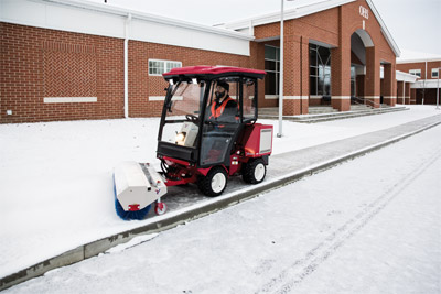 Ventrac 3400 Snow Removal with Power Broom - Small enough to navigate sidewalks and paths but powerful enough to handle large lots and spaces, the Ventrac power broom is capable and versatile