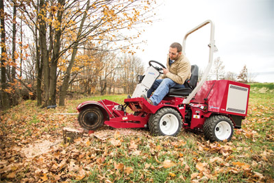 Stump Grinder for Ventrac 3400 - Gets into tight or hard to reach places easier while easy to see for precise grinding
