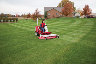 <strong>Ventrac 3400 finish mower deck</strong> - Easily create professional looking stripes in your yard while precision cutting adds a more uniform and manicured look