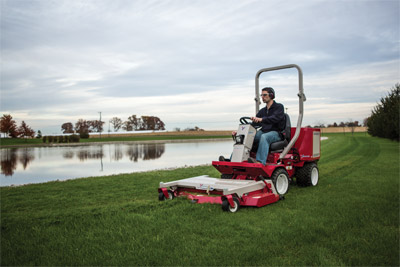 Precision Cut Mower Deck with Ventrac 3400 - Highly maneuverable 3400 along with the precision cut mower deck gets you around hazards easier and safer without sacrificing cutting quality