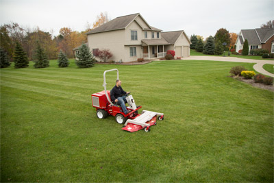 Ventrac 3400 with LM600 Mowing Deck - The precision cut of the Ventrac mower deck maintains a uniform look even on uneven ground