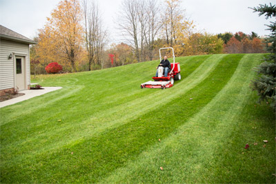 LM600 Mower deck on Ventrac 3400 - Easily maintain that professional look even on hills and uneven ground using the Ventrac mowing deck