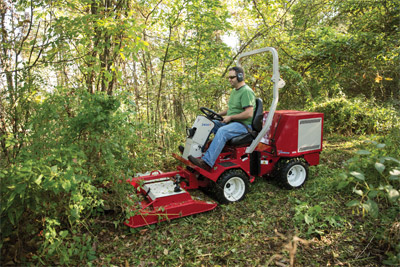 Ventrac 3400Y mowing with the LQ450 - The LQ450 Field Mower is designed to cut heavy grass and small brush growth.