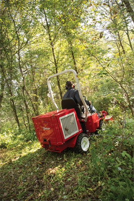 Ventrac 3400 Uphill Mowing with Field Mower - The Ventrac 3400 is safer and more sure-footed on hills and slopes even in high grass or thick vegetation situations.