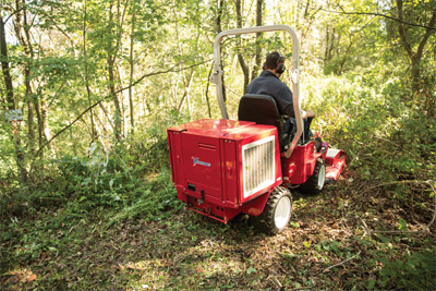 Ventrac 3400 Mowing Brush with the Field Mower - Blaze new trails or repair old ones with the Ventrac Field Mower.