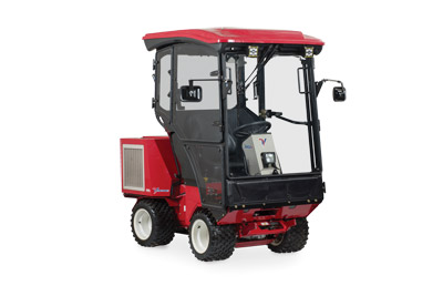 Ventrac 3400Y with Cab Right View - Fully Enclosed heated cab for the Ventrac 3400