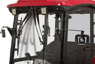 LW450 Cab for the Ventrac 3400 Wiper Operation - Extra large wipers helps keep your view clear inside the warm cab.