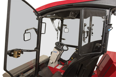 LW450 Cab for Ventrac 3400 Door - Extra large door allows for easy entrance and exiting from the cab.