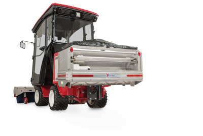 Rear View 3400 with SA250 - Installed SA250 Spreader along with LW450 cab and Power Broom for the Ventrac 3400